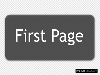 First Page Button SVG Clipart
