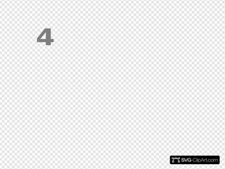 Number 2 Grey Flat Icon