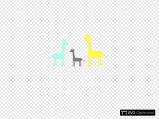 Baby Giraffe Family SVG icons