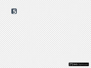 Number 2 Grey Flat Icon SVG Cliparts