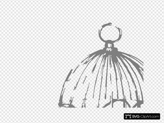 Grey Birdcage With Open Door