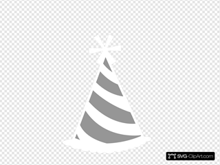 Party Hat Grey White