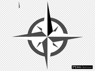 White Compass Rose