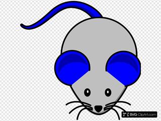 Grey Blue Mouse