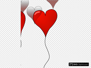Heart Balloons SVG Cliparts