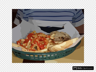 Fries And Steak Sandwich