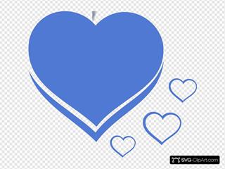 Heart Blue Azul