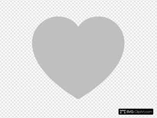 Solid Gray Heart Clipart