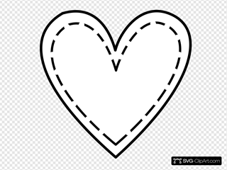 Double Heart Outline