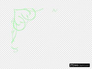 Pastel Green Swirl Heart