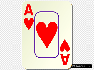 Bordered Ace Of Hearts