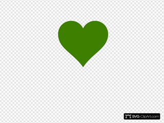 Solid Green Heart