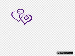 Purple Intertwined Hearts