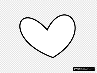 Slant Heart Outline