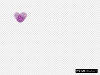 Single Purple Thumbprint Heart