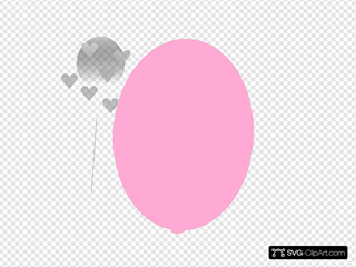 Pink Balloon With Hearts