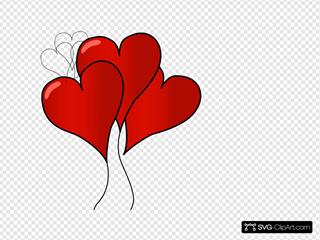 Totetude Heart Balloons