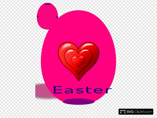 Happy Easter With Heart