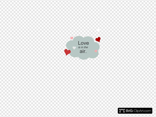 Love Is In The Air Cloud With Hearts