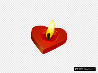 Burning Heart Candle