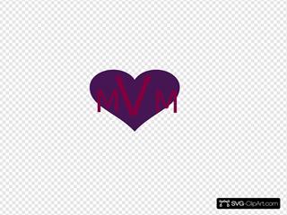 Purple Heart Monogram