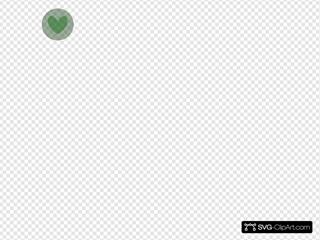 Heart In Circle Green