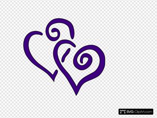 Big  Purple Hearts