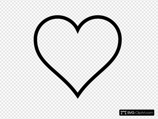Think Line Heart Outline