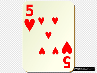 Simple Five Of Hearts