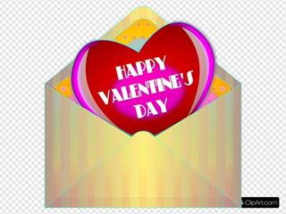 Valentine Card With Envelope
