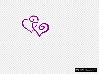 Dark Purple Heart Wedding