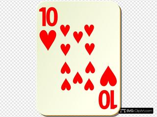 Simple Ten Of Hearts