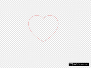 Baby Pink Heart Outline