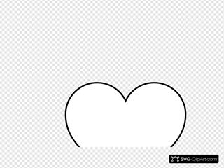 Line Art Heart White