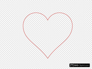 Heart Outline Red