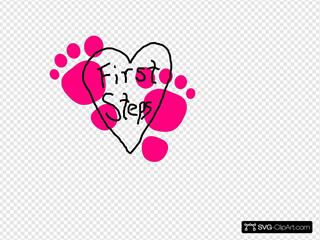 First Steps Heart Logo