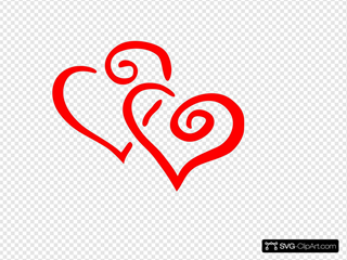 Red Intertwined Hearts