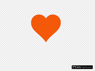Simple Orange Heart