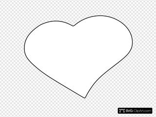 Open Heart SVG Clipart