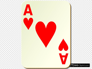 Simple Ace Of Hearts