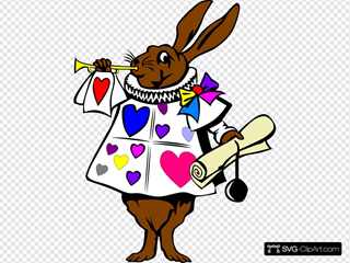 Heart Bunny With Trumpet