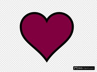 Maroon, Heart, Black, Decor