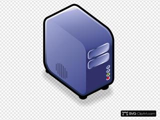 Server Small Case Icon Blue
