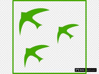 Green Birds Icon
