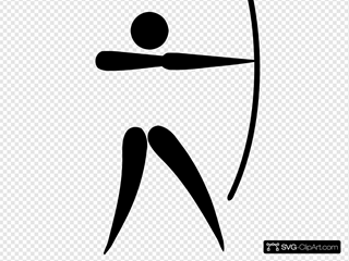 Olympic Sports Archery Pictogram