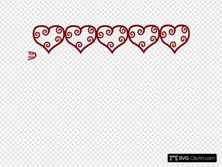 Row Of Hearts