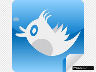Tweet Icon SVG Clipart