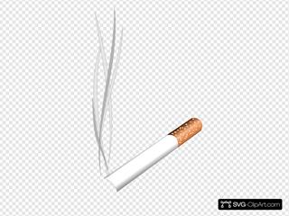 Lit Cigaretter