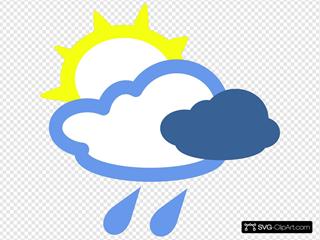 Sun And Rain Weather Symbols