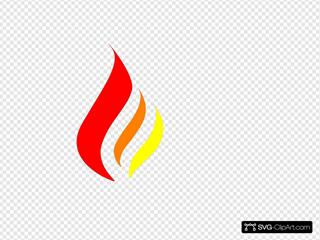 Red-orange-yellow Flame